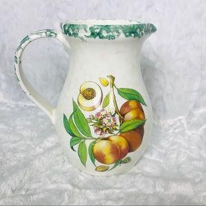 Himark Vintage Handpainted Peach Fruit Design Ital